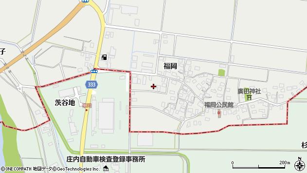 山形県酒田市広野福岡138周辺の地図