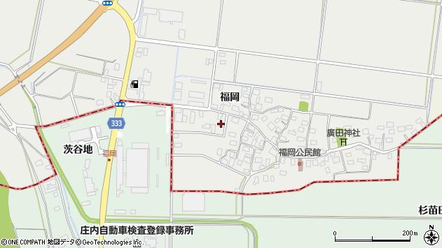 山形県酒田市広野福岡90周辺の地図