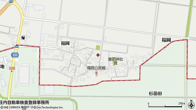 山形県酒田市広野福岡209周辺の地図