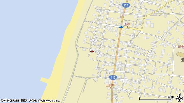 山形県酒田市浜中上村72周辺の地図