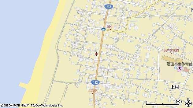 山形県酒田市浜中上村280周辺の地図
