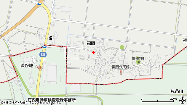 山形県酒田市広野福岡88周辺の地図