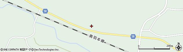 山形県最上郡鮭川村京塚72周辺の地図