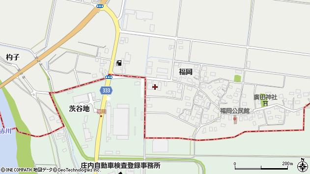 山形県酒田市広野福岡151周辺の地図