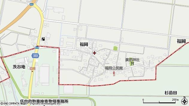 山形県酒田市広野福岡179周辺の地図