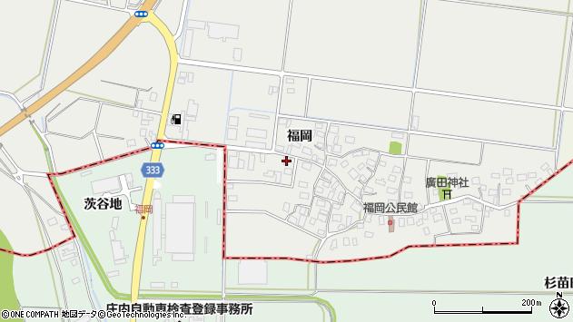 山形県酒田市広野福岡89周辺の地図