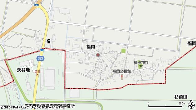 山形県酒田市広野福岡168周辺の地図