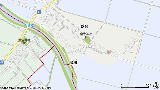 山形県東田川郡庄内町落合落合80周辺の地図