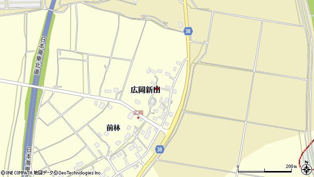 山形県酒田市広岡新田453周辺の地図