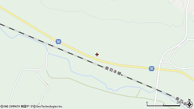 山形県最上郡鮭川村京塚91周辺の地図