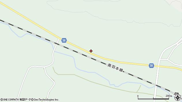 山形県最上郡鮭川村京塚98周辺の地図