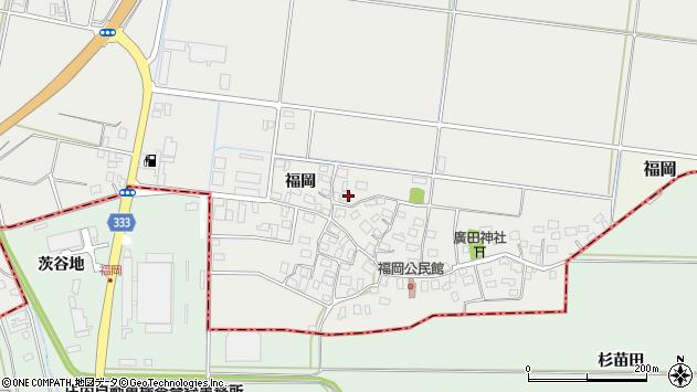 山形県酒田市広野福岡178周辺の地図