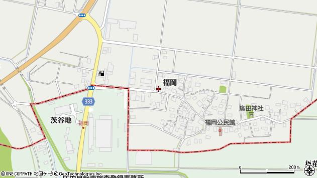 山形県酒田市広野福岡159周辺の地図