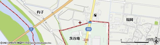 山形県酒田市広野福岡492周辺の地図