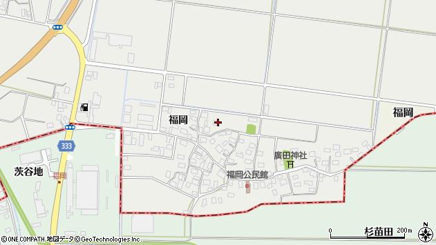 山形県酒田市広野福岡185周辺の地図