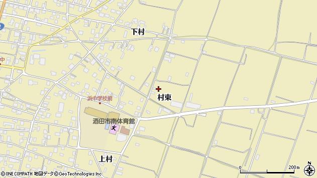 山形県酒田市浜中村東1392周辺の地図
