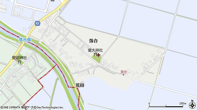 山形県東田川郡庄内町落合落合51周辺の地図