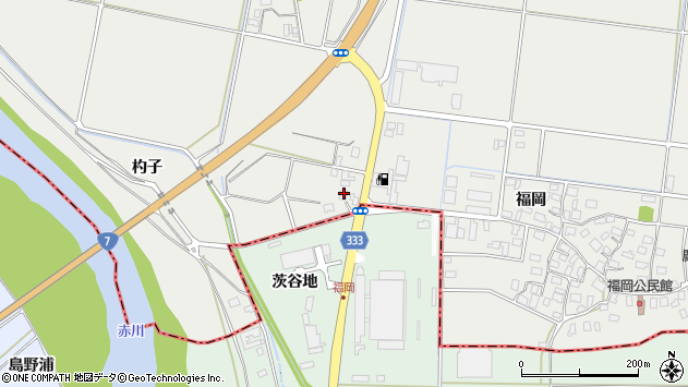 山形県酒田市広野福岡501周辺の地図