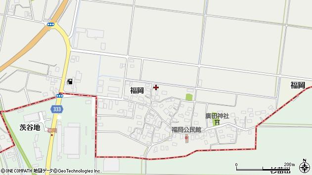 山形県酒田市広野福岡174周辺の地図