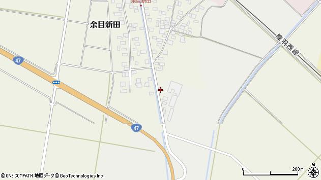 山形県東田川郡庄内町余目新田東町1周辺の地図