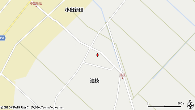 山形県東田川郡庄内町沢新田沼端周辺の地図