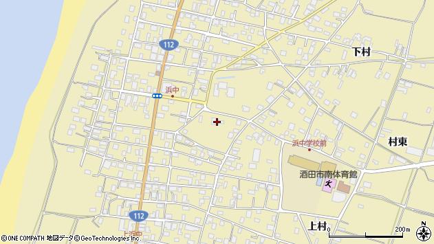 山形県酒田市浜中上村357周辺の地図