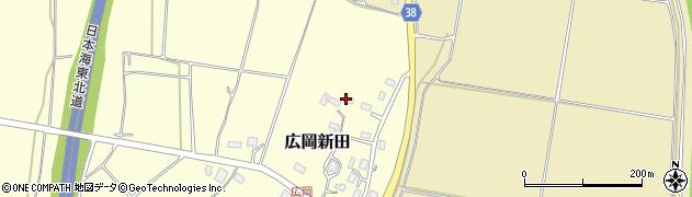 山形県酒田市広岡新田451周辺の地図