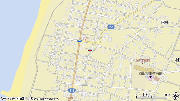 山形県酒田市浜中上村302周辺の地図