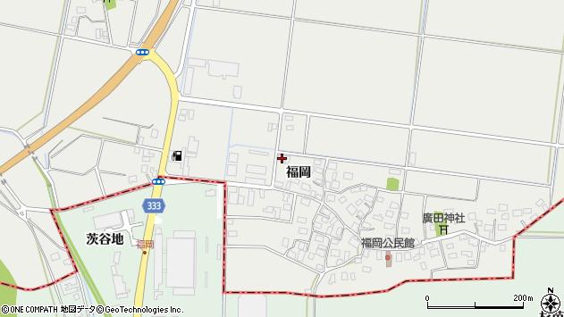 山形県酒田市広野福岡161周辺の地図