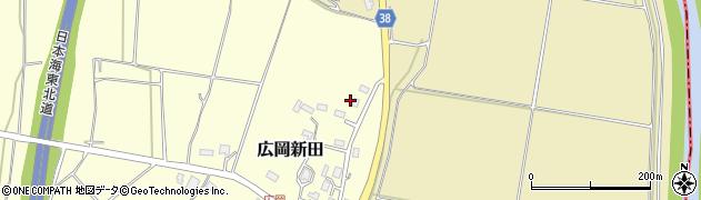 山形県酒田市広岡新田448周辺の地図