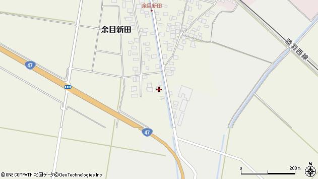 山形県東田川郡庄内町余目新田西町2周辺の地図