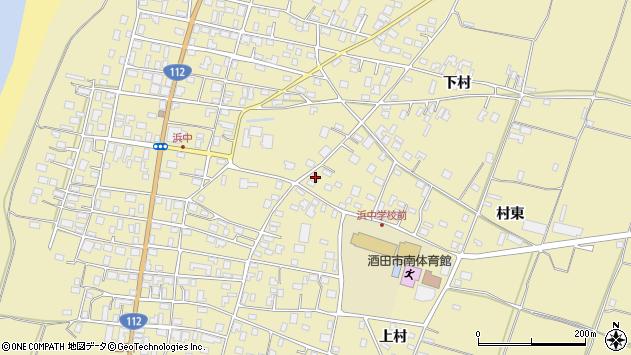 山形県酒田市浜中下村372周辺の地図
