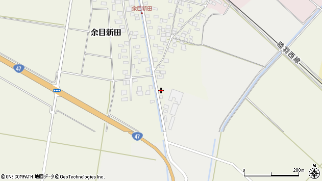 山形県東田川郡庄内町余目新田東町5周辺の地図