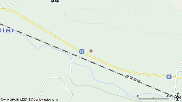 山形県最上郡鮭川村京塚3179周辺の地図