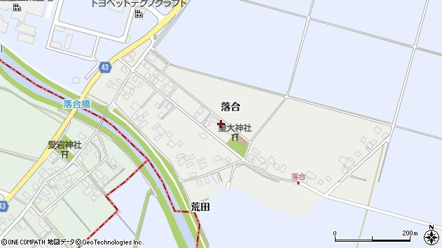 山形県東田川郡庄内町落合落合53周辺の地図