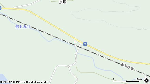 山形県最上郡鮭川村京塚159周辺の地図