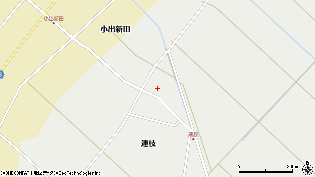 山形県東田川郡庄内町連枝沼端周辺の地図