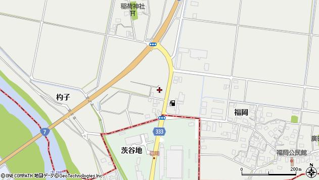 山形県酒田市広野福岡508周辺の地図