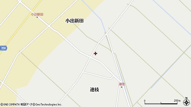 山形県東田川郡庄内町連枝周辺の地図