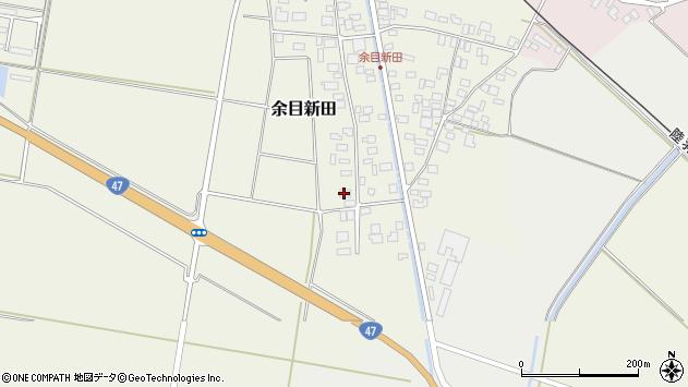 山形県東田川郡庄内町余目新田西町53周辺の地図