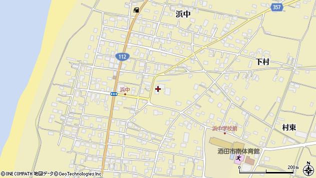 山形県酒田市浜中下村349周辺の地図