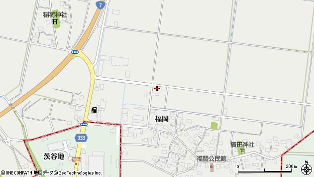 山形県酒田市広野福岡441周辺の地図