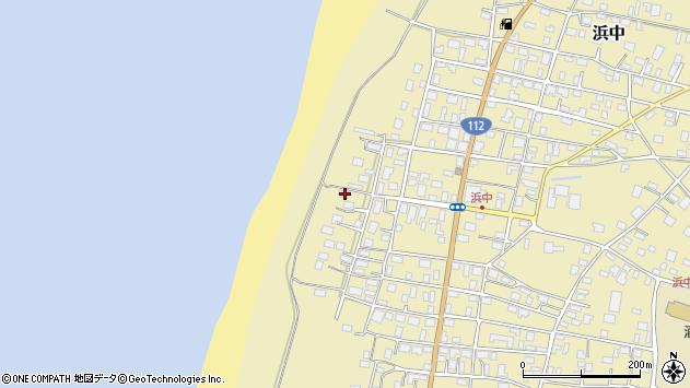 山形県酒田市浜中甲周辺の地図
