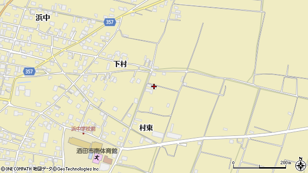 山形県酒田市浜中村東1461周辺の地図