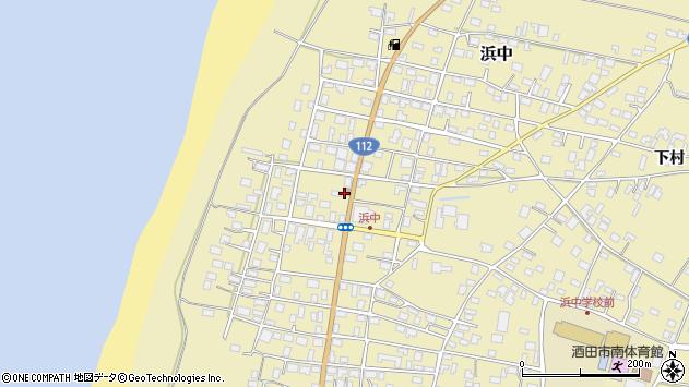山形県酒田市浜中下村126周辺の地図