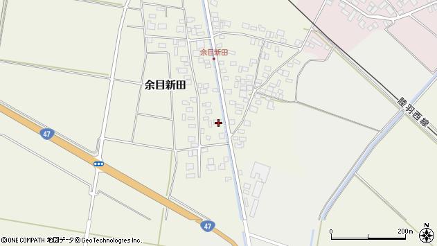 山形県東田川郡庄内町余目新田西町7周辺の地図