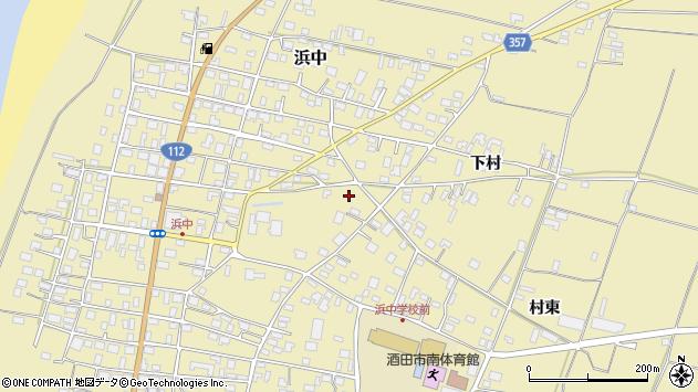 山形県酒田市浜中下村458周辺の地図