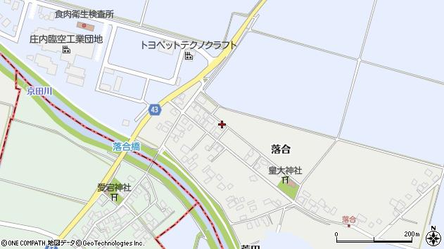 山形県東田川郡庄内町落合落合61周辺の地図