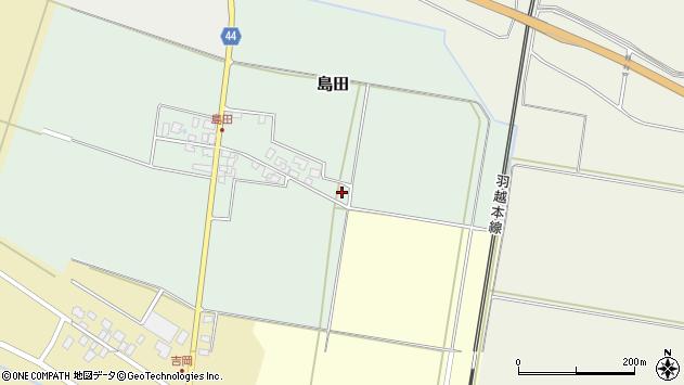 山形県東田川郡庄内町島田谷地古田13周辺の地図