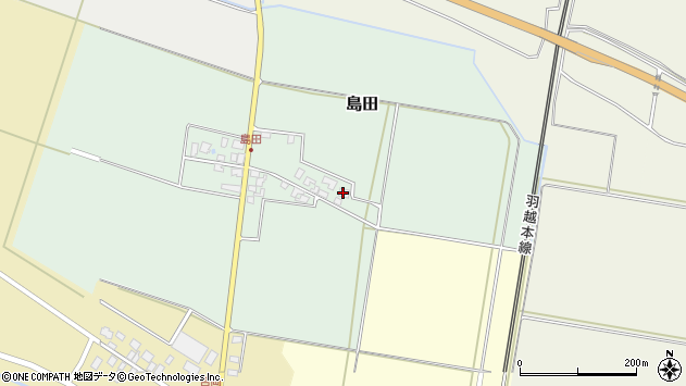 山形県東田川郡庄内町島田谷地古田1周辺の地図